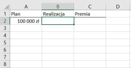Plan vs. realizacja - zastosowanie funkcji Jeżeli
