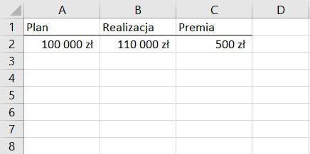 Funkcja Jeżeli Excel - zastosowanie w sprawdzaniu realizacji planów