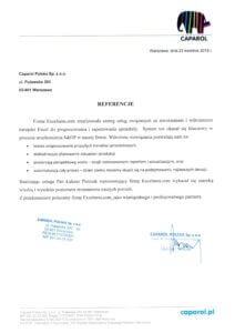 Referencje Caparol - usługi