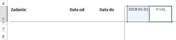 Jak zrobić harmonogram w Excelu - daty w nagłówku