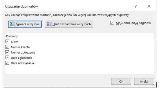 Usuwanie duplikatów w Excelu