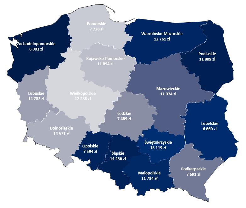Mapa Polski w Excelu